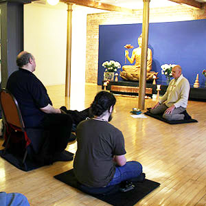 photo of meditation class