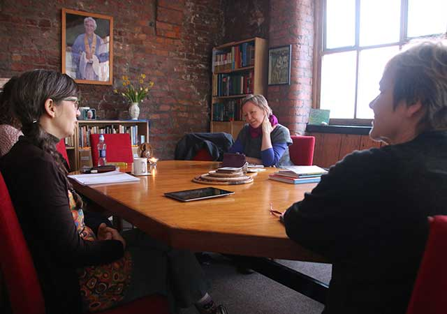 Meeting in Buddhist Centre Library