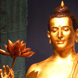 Manchester Buddhist Centre Buddha statue