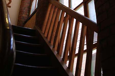 Stairwell at Manchester Buddhist Centre