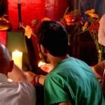 Men at Puja, Shrine