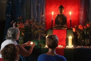 Women at Puja, Shrine